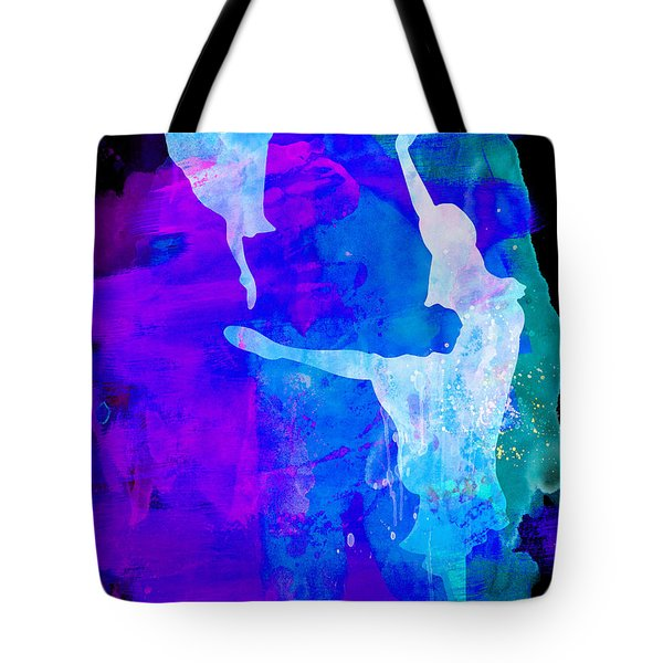 Two Ballerinas Watercolor 3 Tote Bag by Naxart Studio