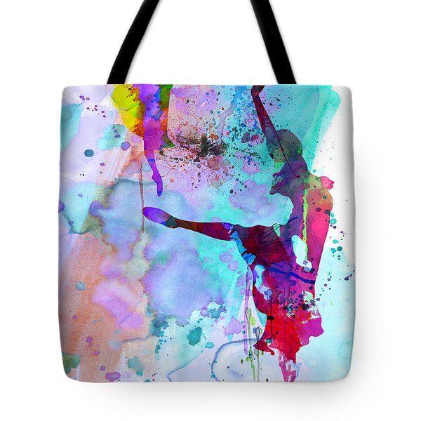 Two Ballerinas Watercolor 4 Tote Bag