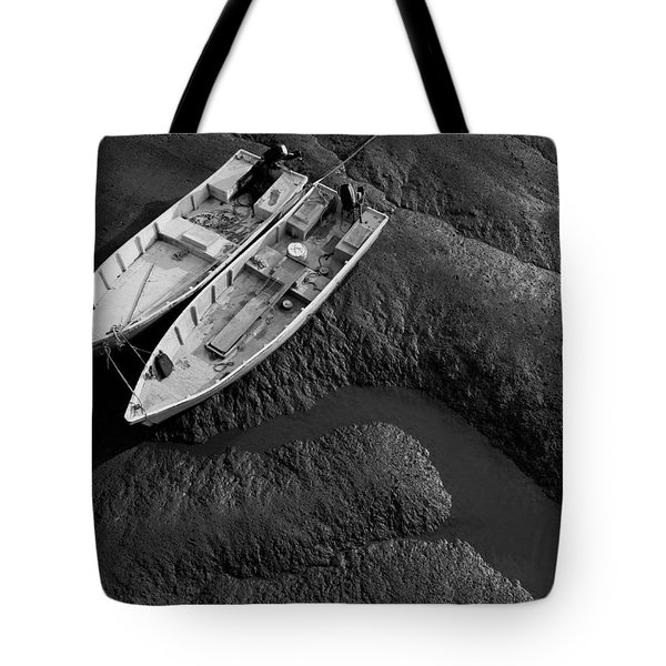 Two Boats At Low Tide Tote Bag