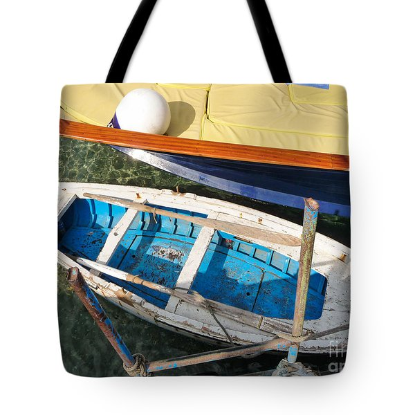 Tote Bag featuring the photograph Two Boats by Mike Ste Marie