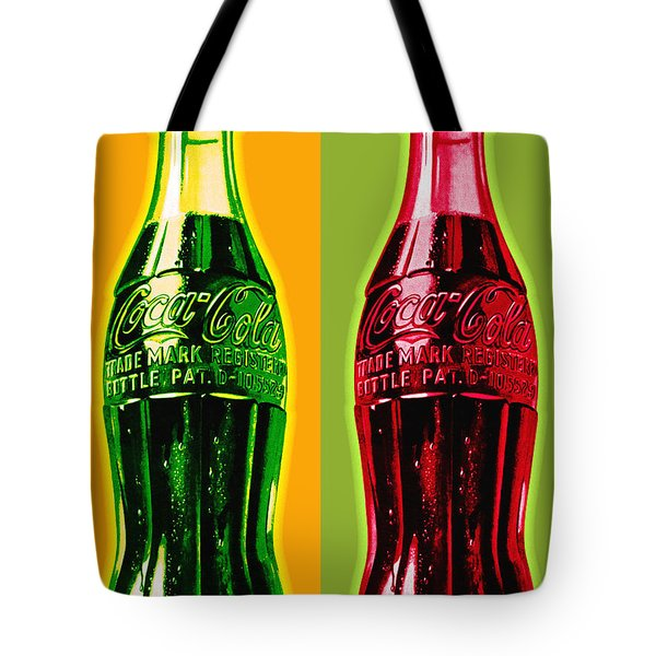 Two Coke Bottles Tote Bag