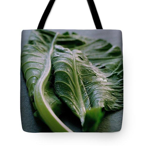 Two Collard Leaves Tote Bag