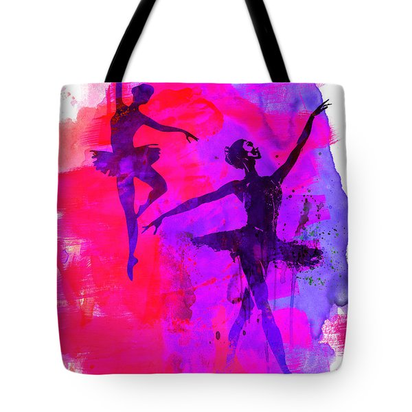Two Dancing Ballerinas 3 Tote Bag
