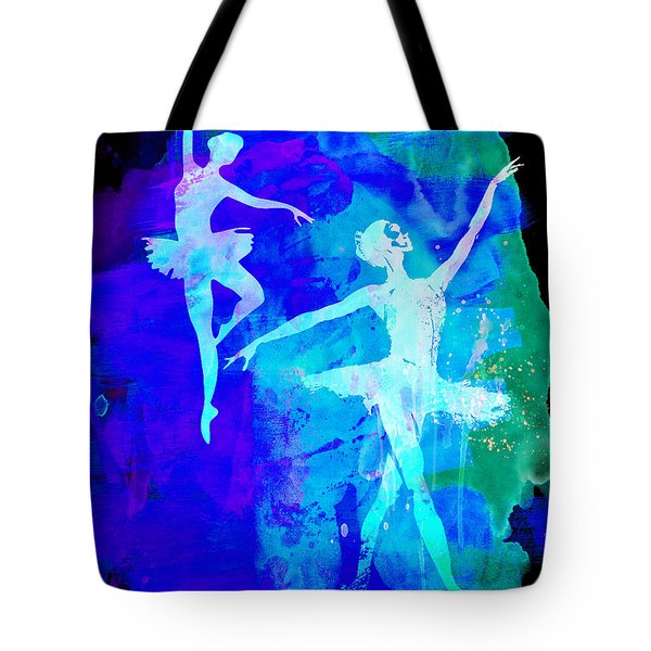 Two Dancing Ballerinas  Tote Bag by Naxart Studio