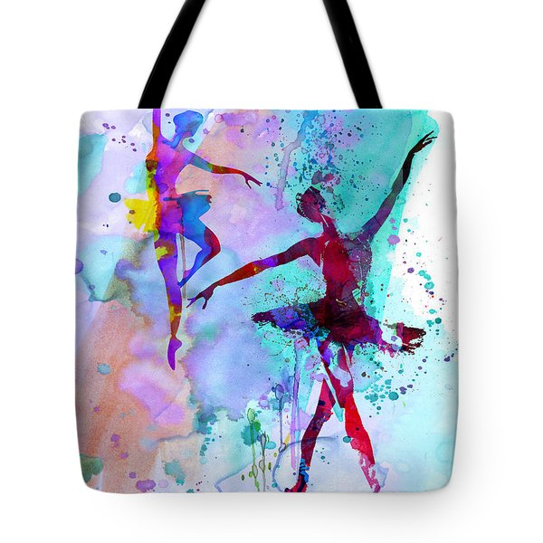 Two Dancing Ballerinas Watercolor 2 Tote Bag