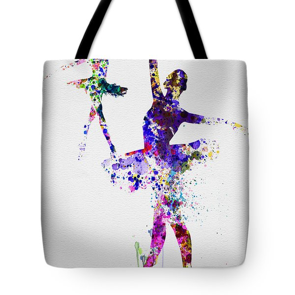 Two Dancing Ballerinas Watercolor 4 Tote Bag