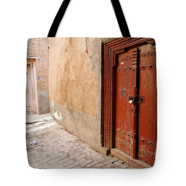 Two Doors In The Old Town Of Kashgar Tote Bag by Robert Preston