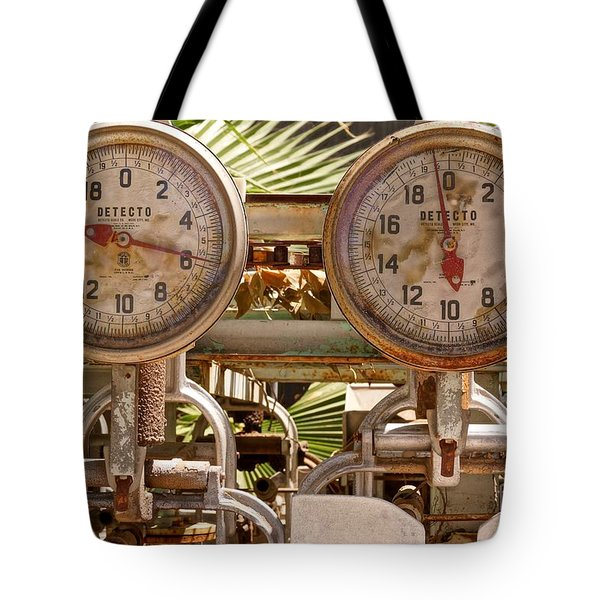 Two Farm Scales Tote Bag