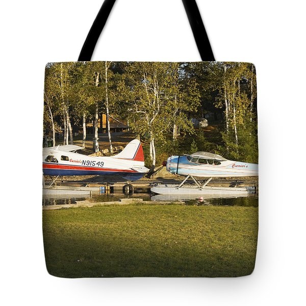 Two Float Planes On Moosehead Lake Near Greenville Maine  Tote Bag
