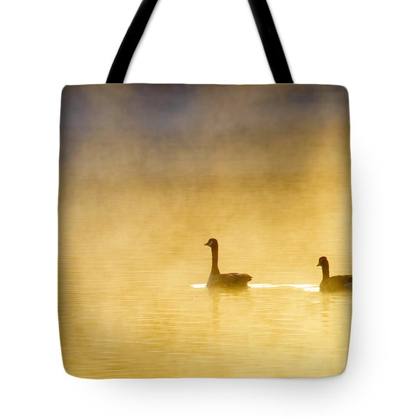 Two Geese Tote Bag by Tommytechno Sweden