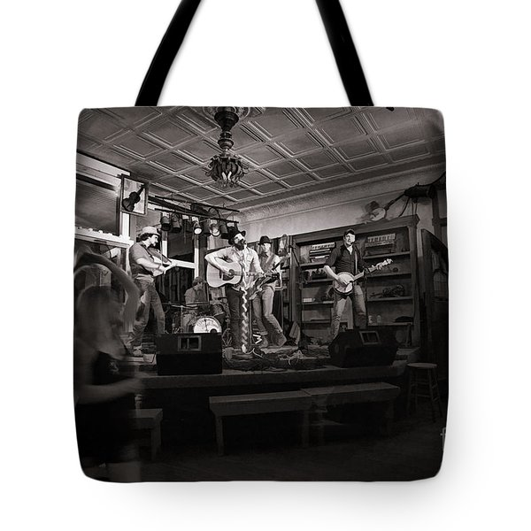 Two Girls Dancing At The Purple Fiddle Tote Bag by Dan Friend