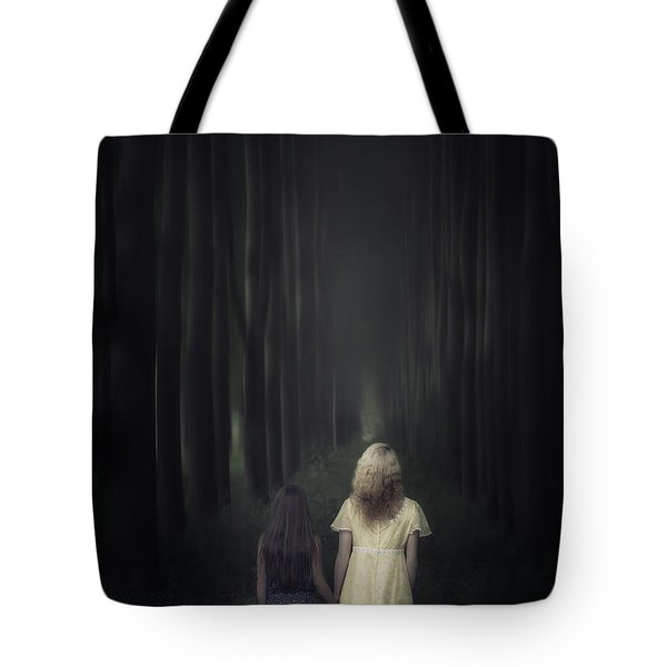 Two Girls In A Forest Tote Bag by Joana Kruse