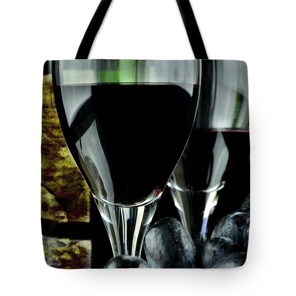 Two Glasses With Red Wine Tote Bag