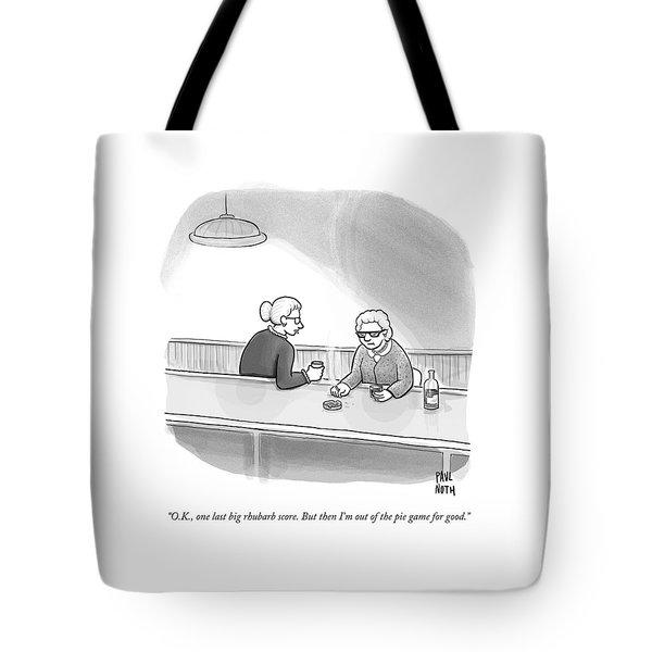 Two Grannies Smoke And Drink At A Bar Tote Bag