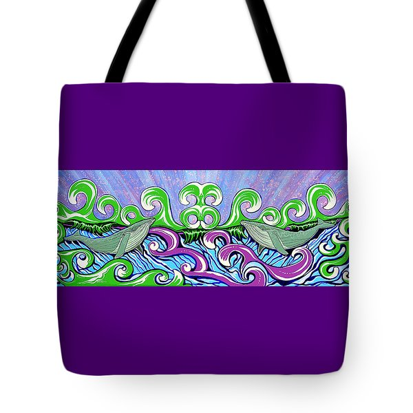 Two Gray Whales Tote Bag