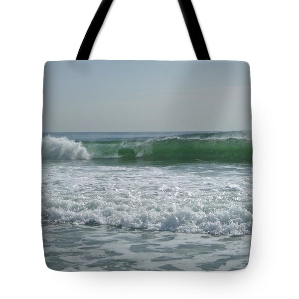 Two Green Waves Tote Bag