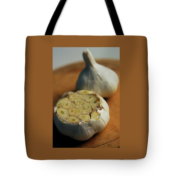 Two Heads Of Garlic Tote Bag