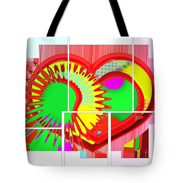 Two Hearts Are Better Than One Tote Bag by Liane Wright