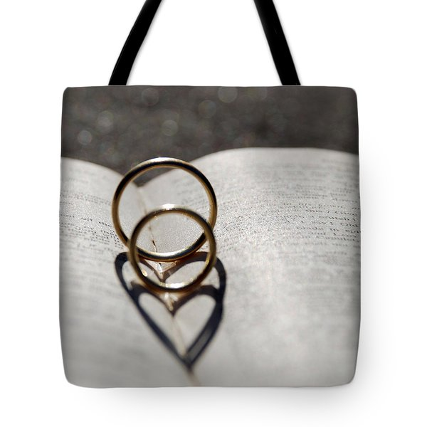 Two Hearts As One Tote Bag