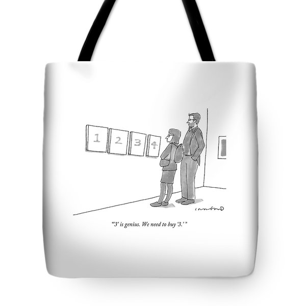 Two Hip-looking People In A Gallery Tote Bag