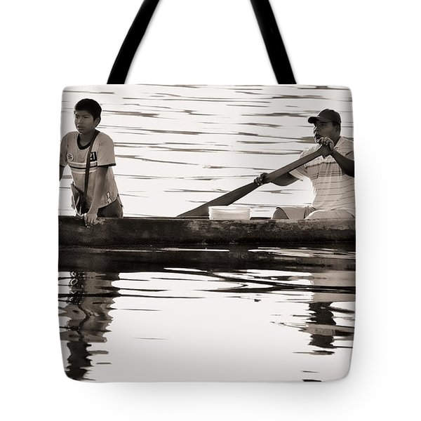 Tote Bag featuring the photograph Two In Dugout by Britt Runyon