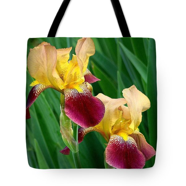 Two Iris Tote Bag