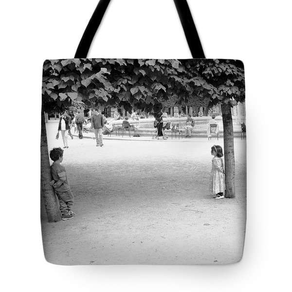 Two Kids In Paris Tote Bag