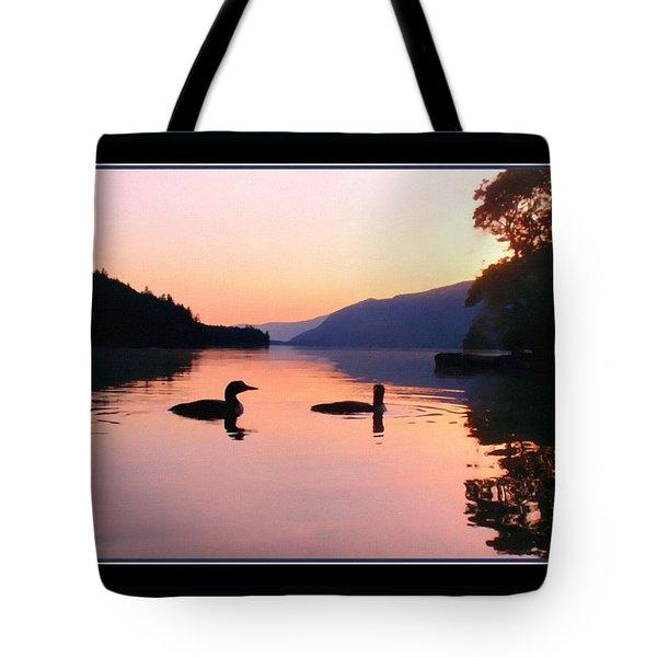 Two Loons On Lake George Tote Bag