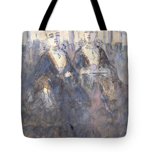 Two Lorettes At The Theater Tote Bag