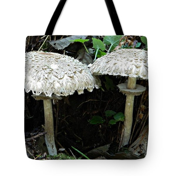 Two Magnificent Toadstools Tote Bag