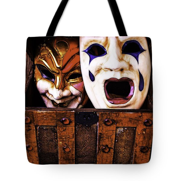 Two Masks In Box Tote Bag