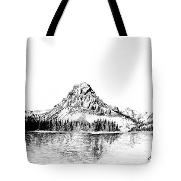 Two Medicine Mountain Tote Bag by Kayleigh Semeniuk