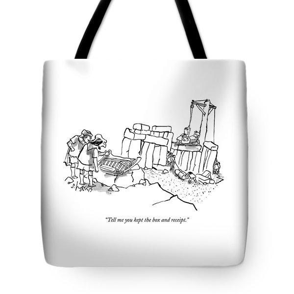 Two Men In Greek/roman Garb Look Tote Bag