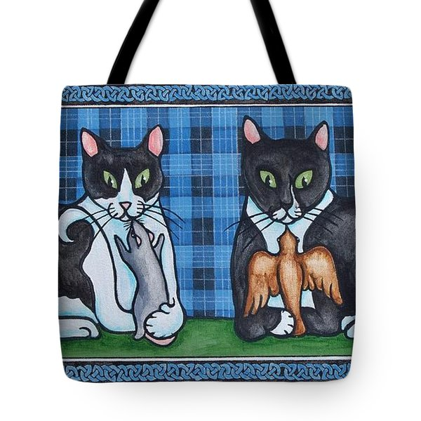 Two Mewses Tote Bag by Beth Clark-McDonal