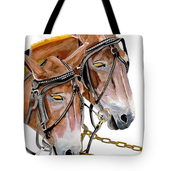 Two Mules - Enhanced Color - Farmer's Friend Tote Bag