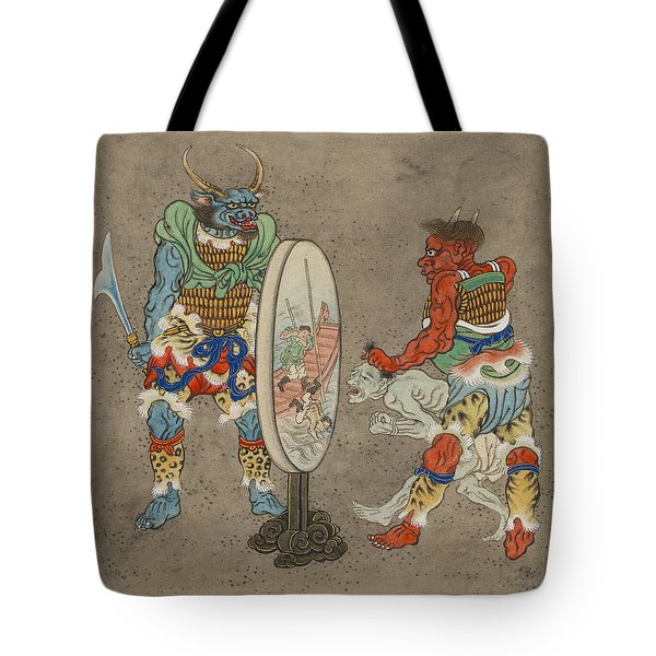 Two Mythological Buddhist Or Hindu Figures Circa 1878 Tote Bag by Aged Pixel