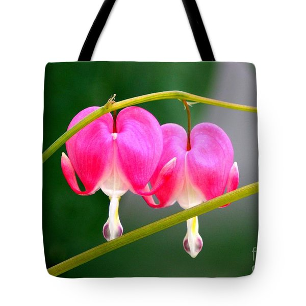 Two Of Hearts Tote Bag by Patti Whitten