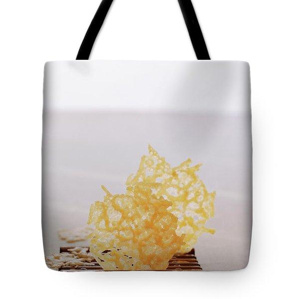 Two Parmesan Onion Puffs Tote Bag