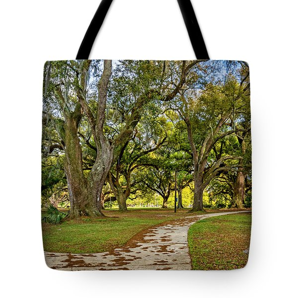 Two Paths Diverged In A Live Oak Wood...  Tote Bag by Steve Harrington