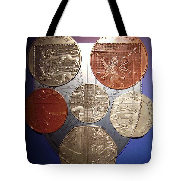 Two Pence Five Pence Ten Pence Tote Bag by Cathy Shiflett