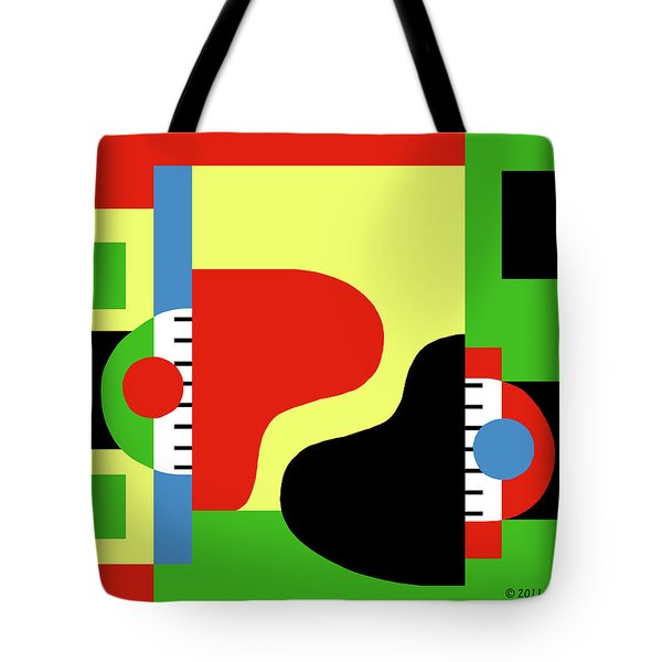 Two Pianos Tote Bag