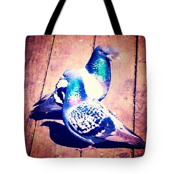 Two Pigeons And A Ghost Tote Bag