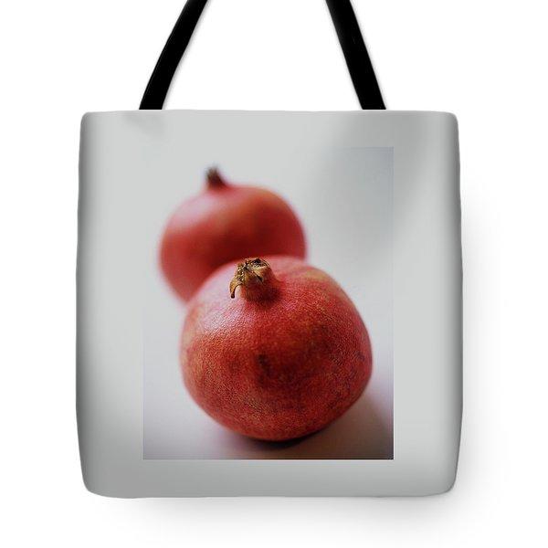 Two Pomegranates Tote Bag