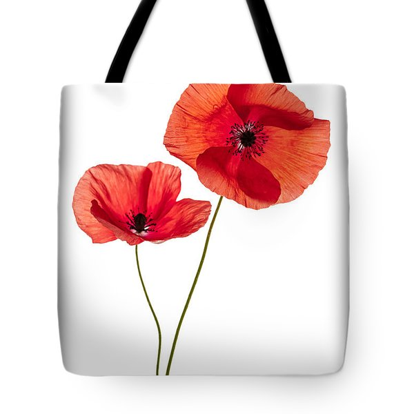 Two Poppy Flowers Tote Bag