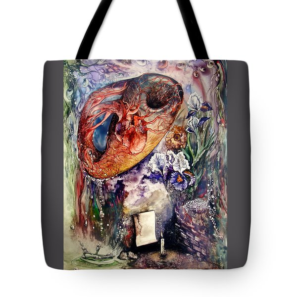 Tote Bag featuring the painting Two Realities by Mikhail Savchenko
