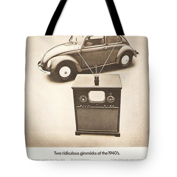 Two Ridiculous Gimmicks Of The 1940s Tote Bag by Georgia Fowler