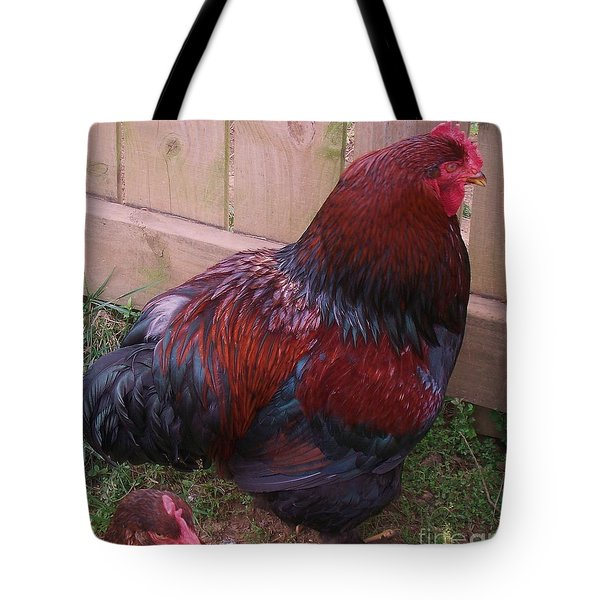 Two Roosters Tote Bag by Eric  Schiabor