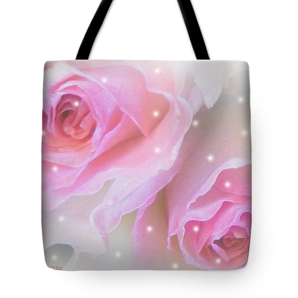 Two Roses Tote Bag by Mikki Cucuzzo