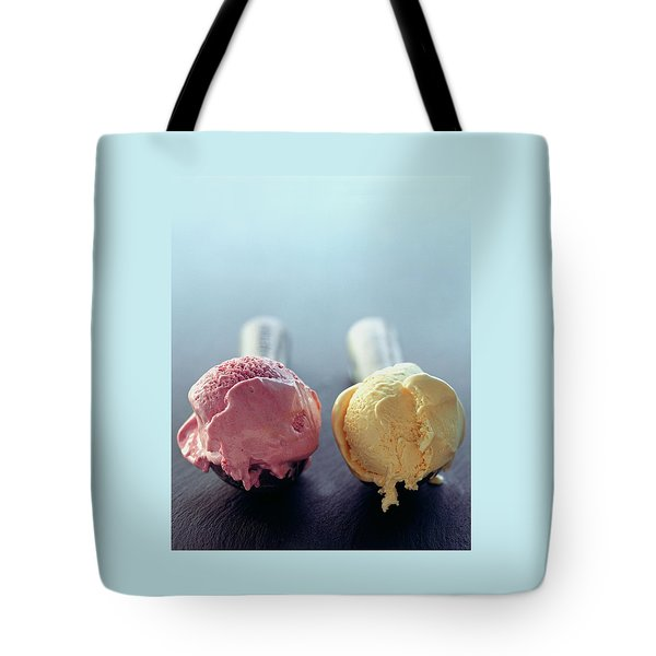 Two Scoops Of Ice Cream Tote Bag