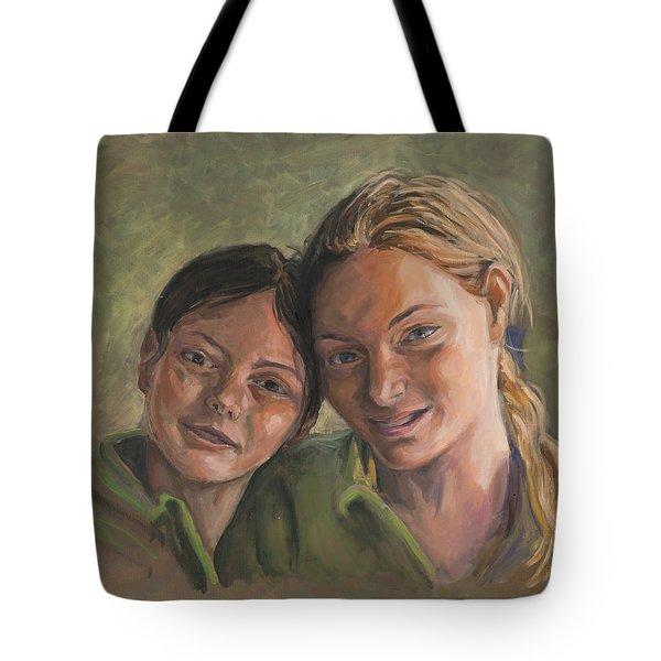 Two Sisters Tote Bag by Marco Busoni